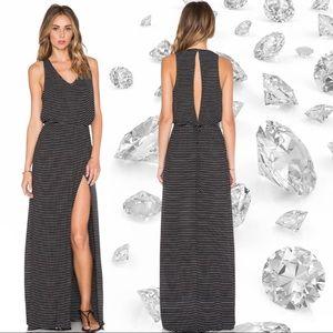 Bella Luxx Striped Open Back Maxi Dress NWT